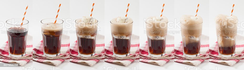 Root beer float stock photo