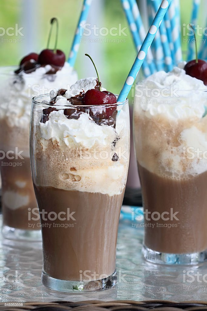 Root Beer Floats stock photo