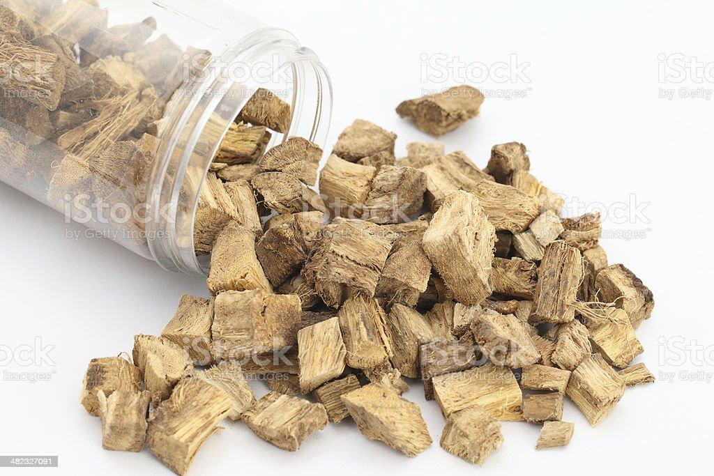 Root of kudzu vine,puerarin stock photo