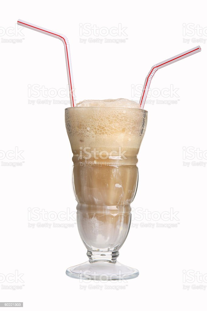 Rootbeer Float for Two stock photo