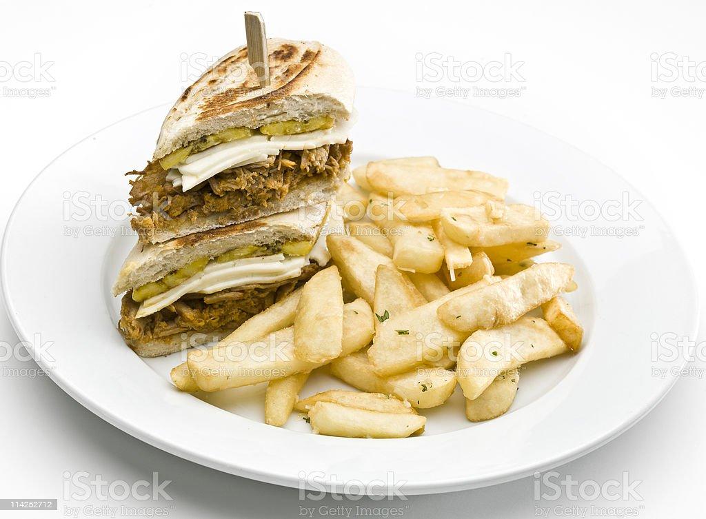 Ropa Vieja Tropical sandwich stock photo