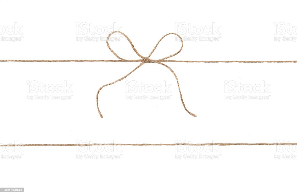 Rope and bow isolated on white stock photo