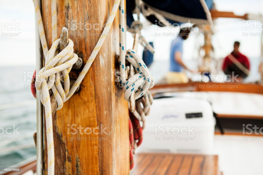 Rope and mast royalty-free stock photo