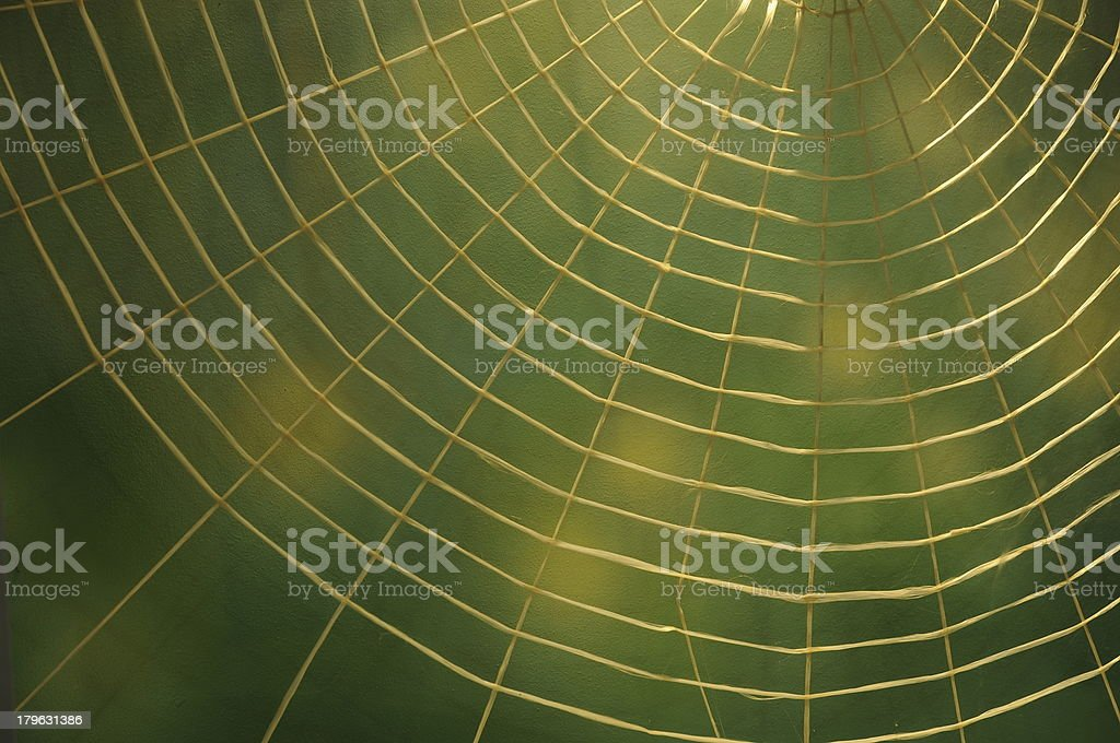 Rope as a spider web royalty-free stock photo
