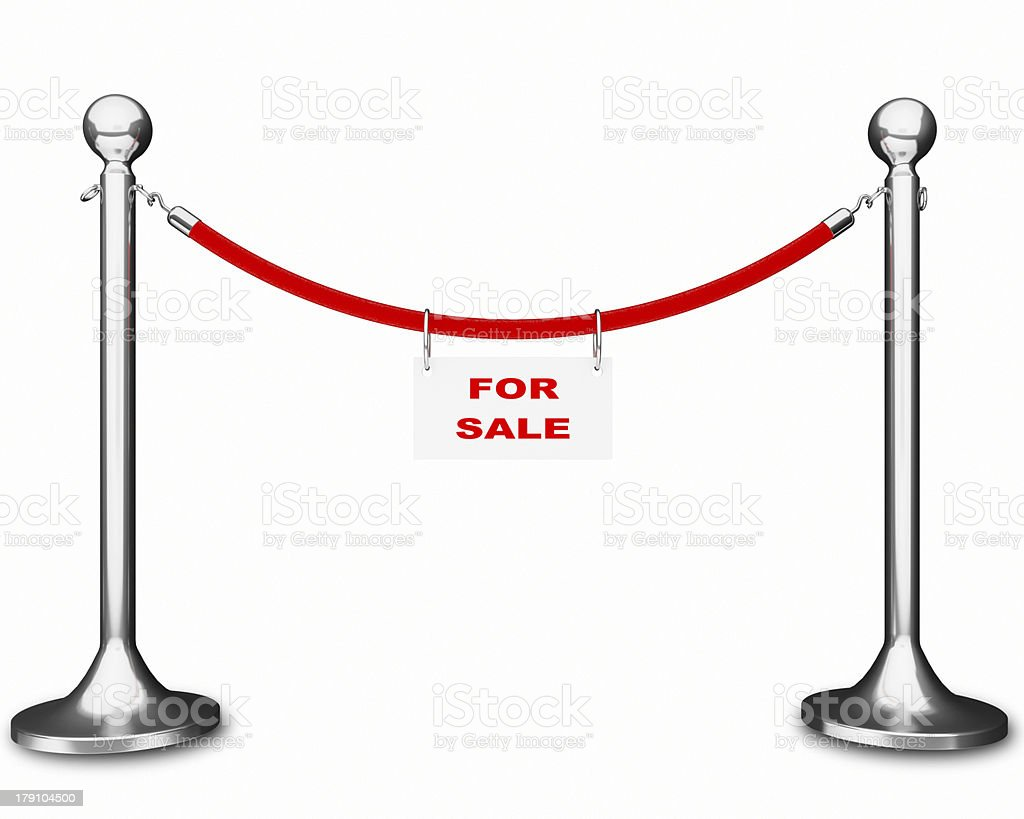 rope barrier for sale royalty-free stock photo