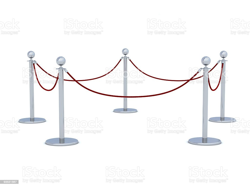Rope Barrier stock photo