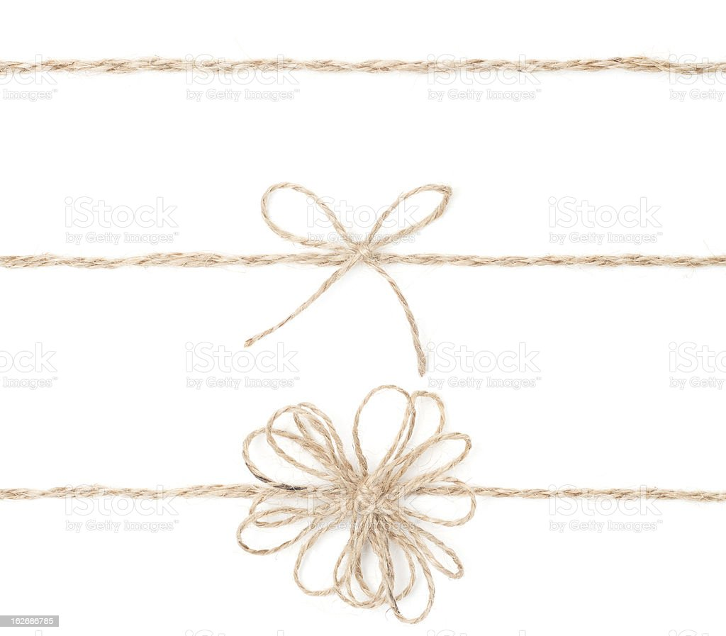 Rope bow royalty-free stock photo