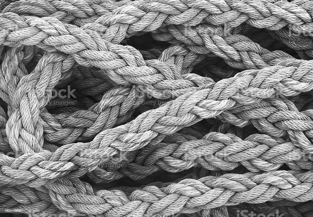 Rope Braided Nautical Equipment royalty-free stock photo