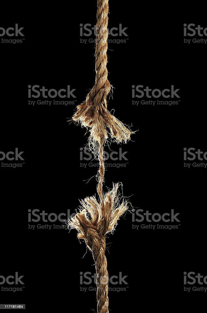 Rope Breaking Apart stock photo