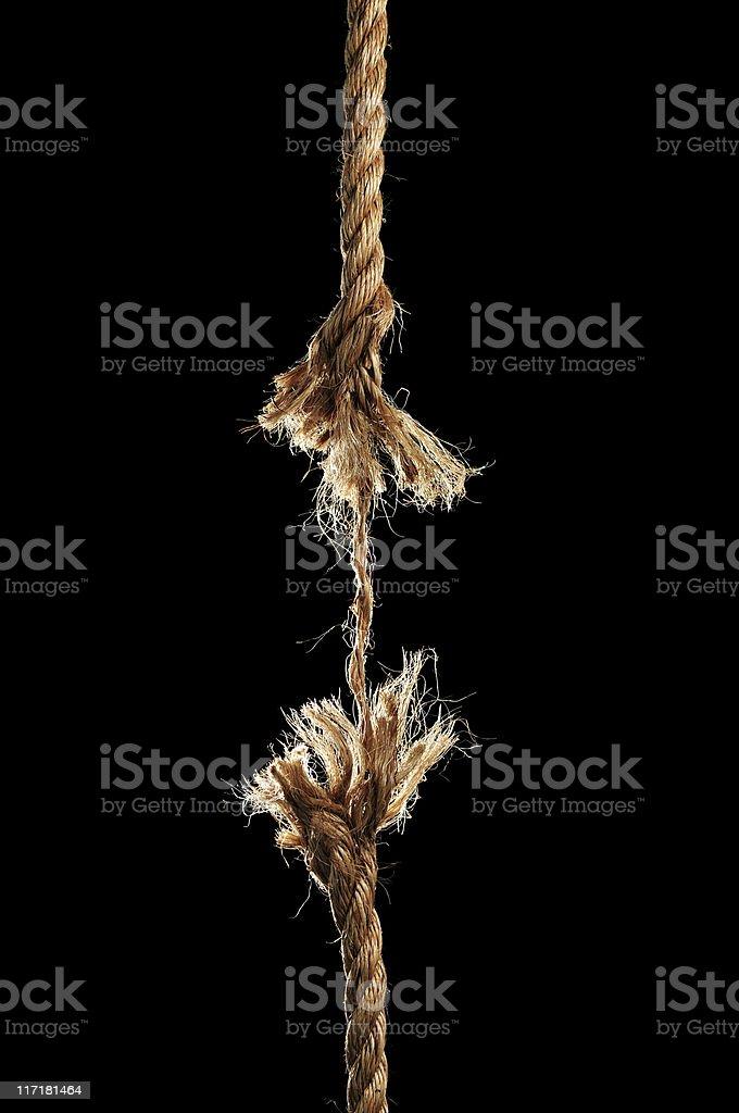 Rope Breaking Apart stock photo