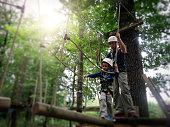 Rope climbing adventure