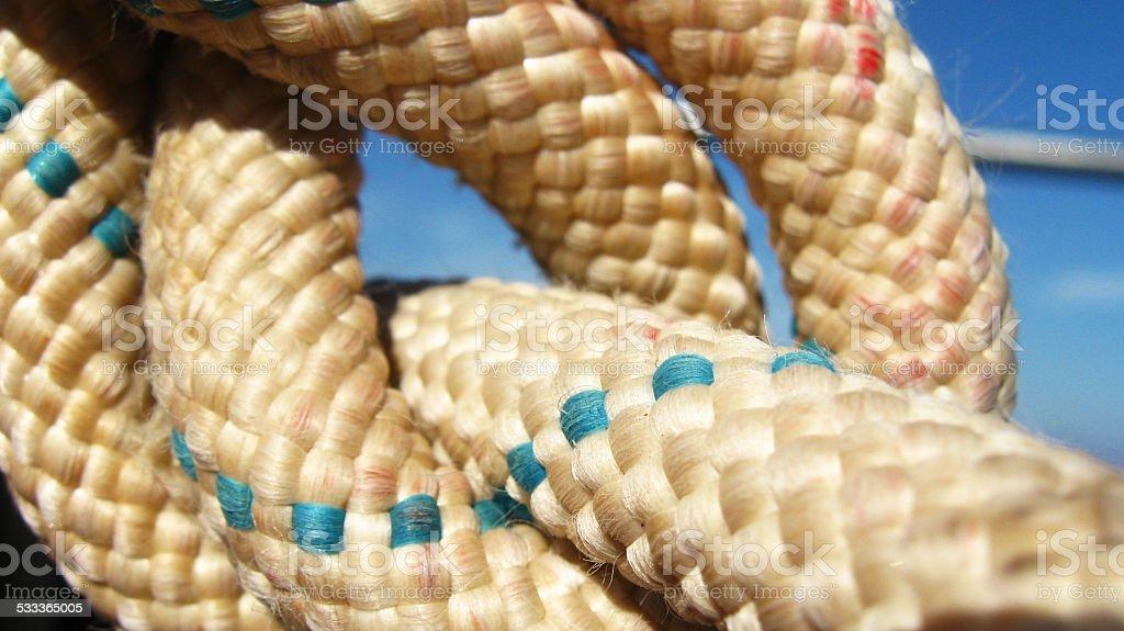 Отделкой веревкой Стоковые фото Стоковая фотография