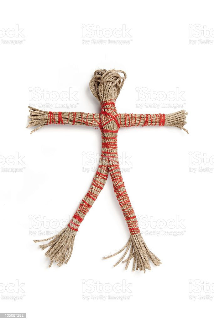 Rope doll royalty-free stock photo