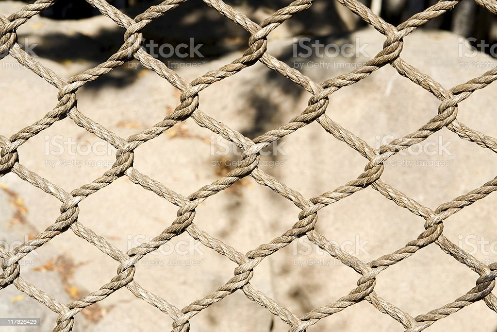 Rope Fence Background Texture stock photo