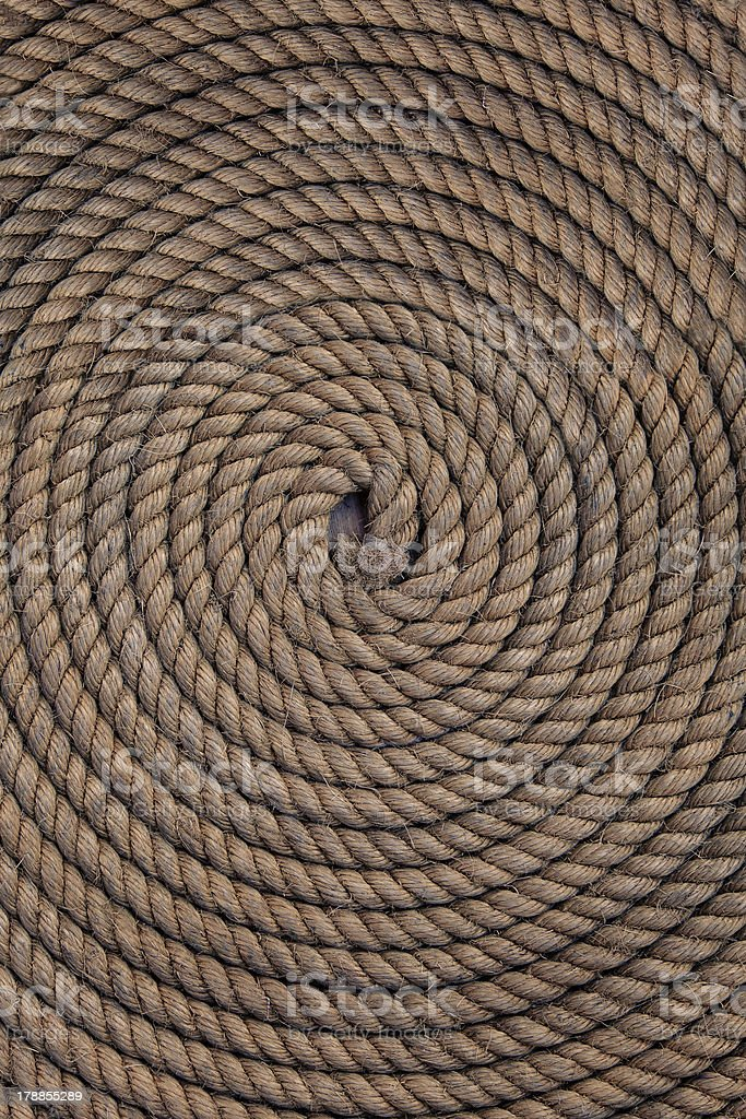 Rope folded helix royalty-free stock photo