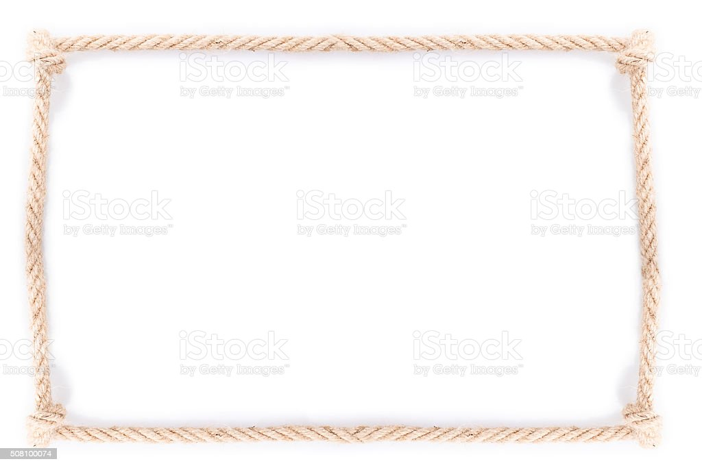rope frame knot stock photo