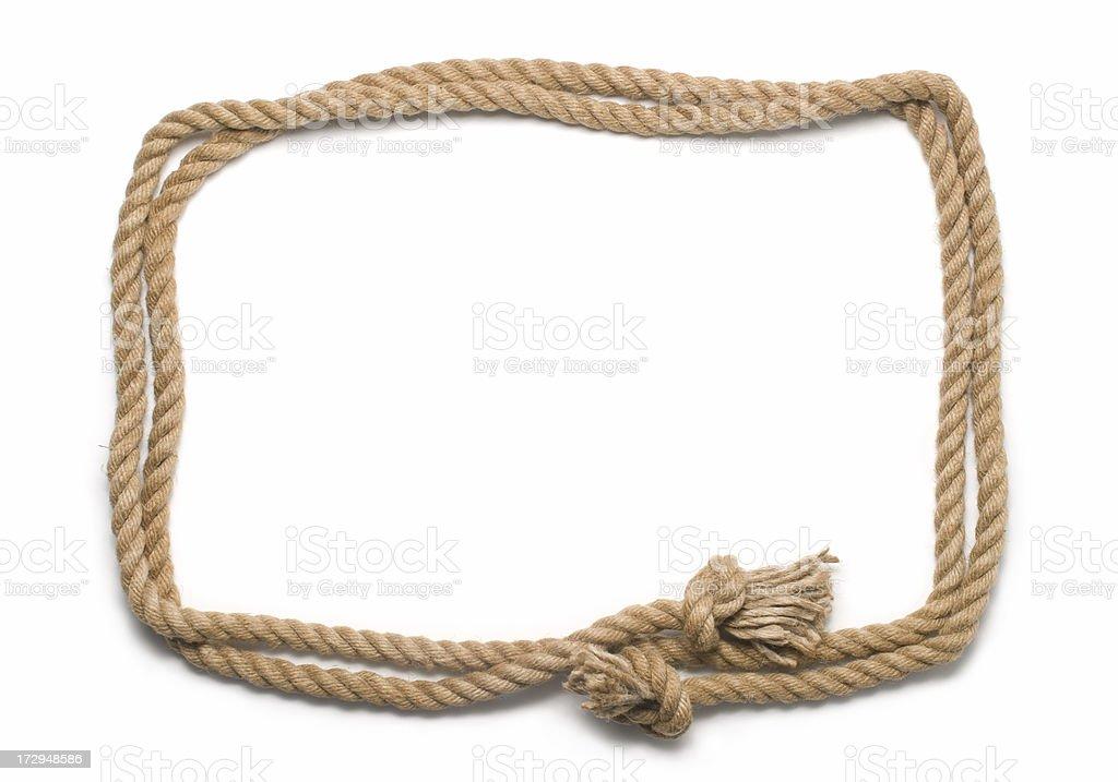Rope frame stock photo