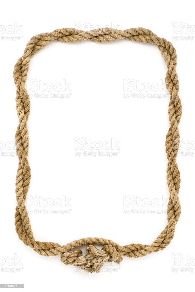 rope frame royalty free stock photo