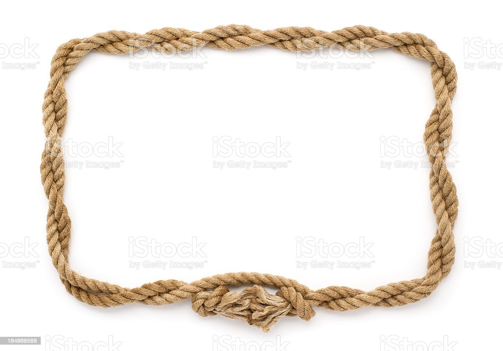 Rope frame stock photo