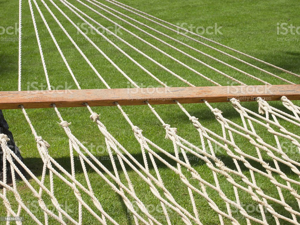 Rope Hammock, Detail, Relaxation, Close Up royalty-free stock photo
