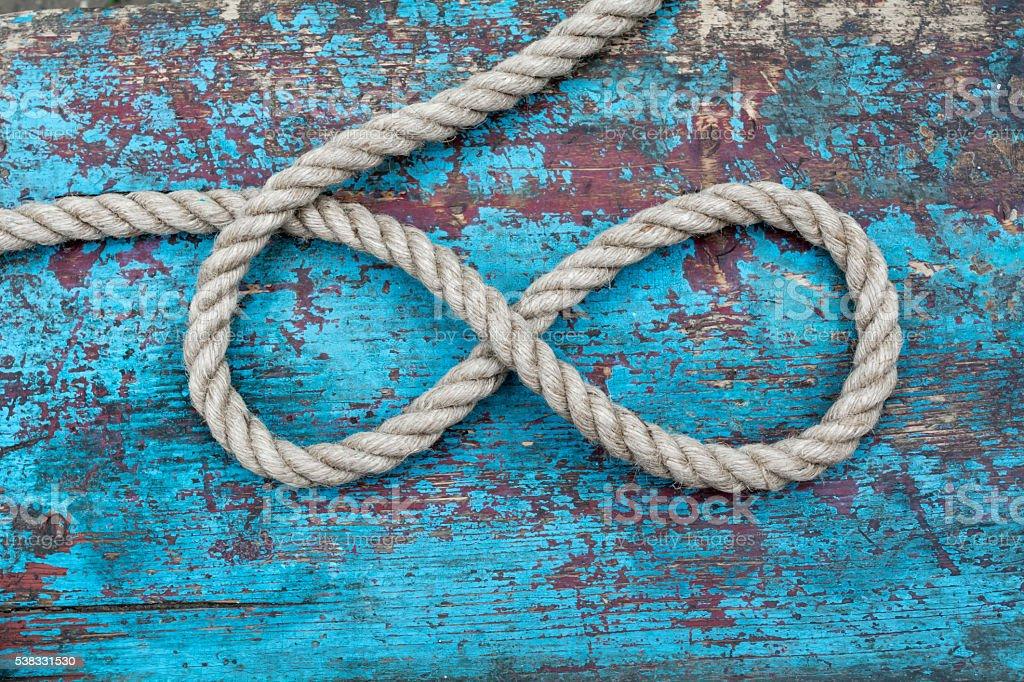 rope infinity stock photo