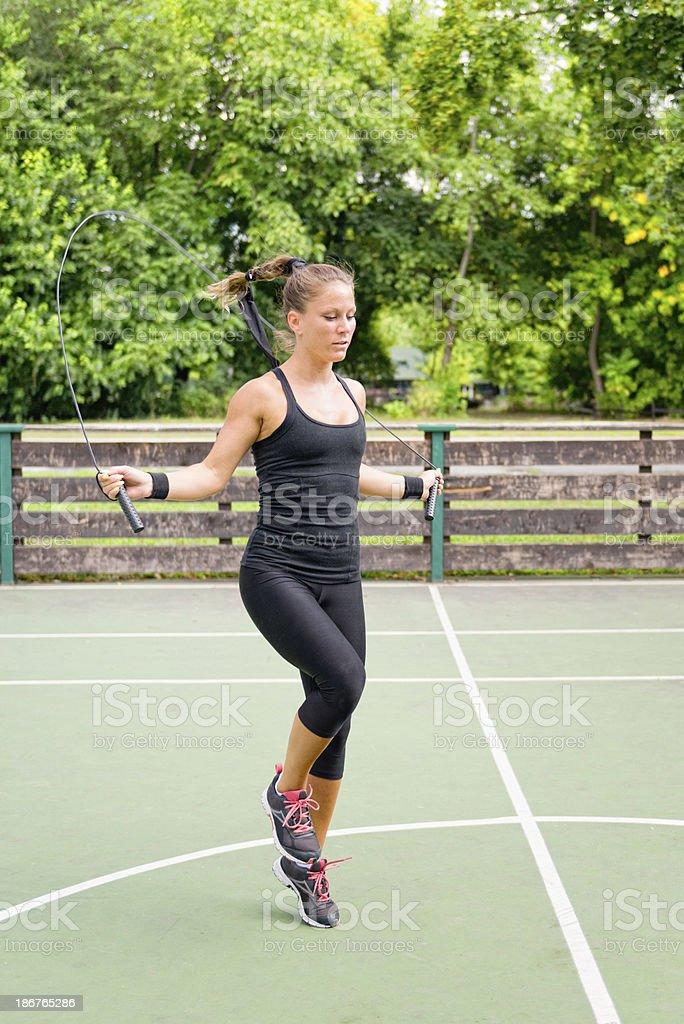Rope jumping royalty-free stock photo
