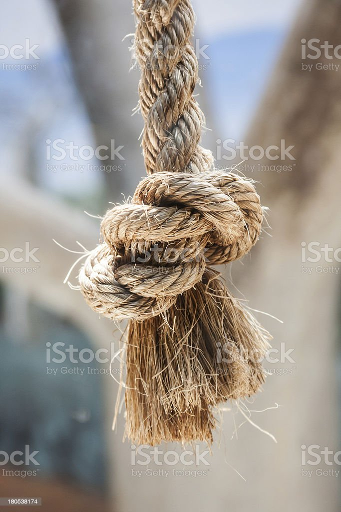 Rope Knot Closeup stock photo
