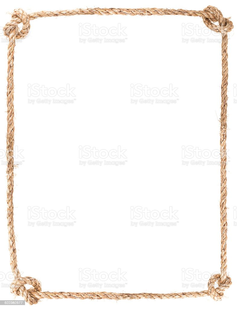 rope knot frame stock photo