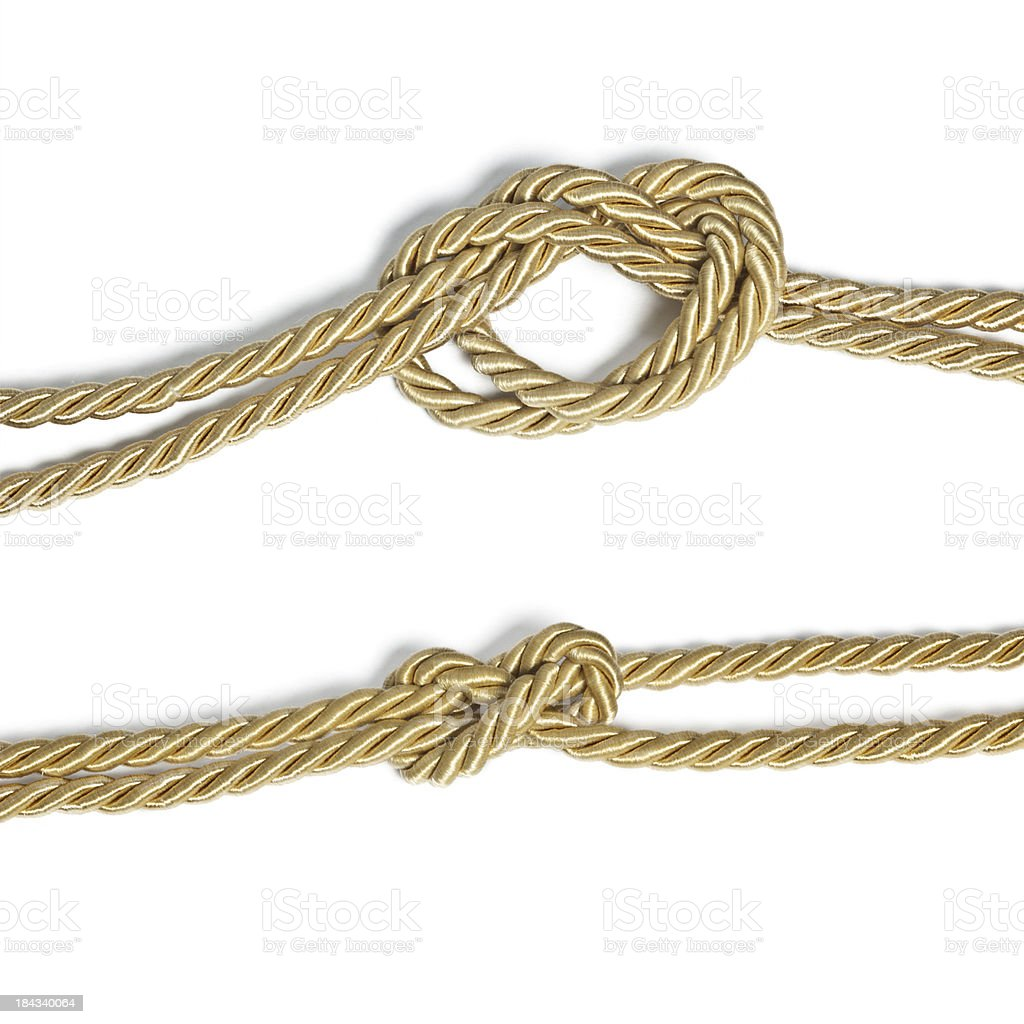Rope Knot Isolated On White royalty-free stock photo