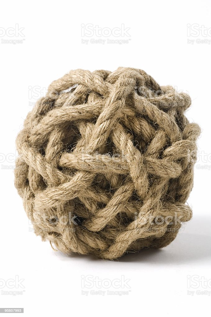 Rope Knot royalty-free stock photo