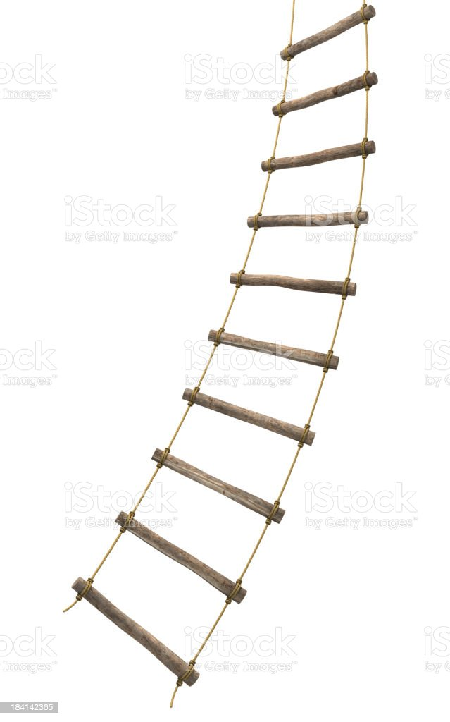Rope ladder escape stock photo