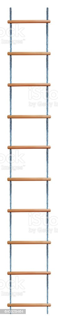 Rope Ladder isolated stock photo