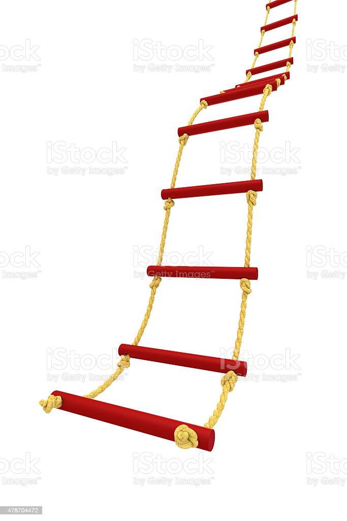 Rope ladder stock photo