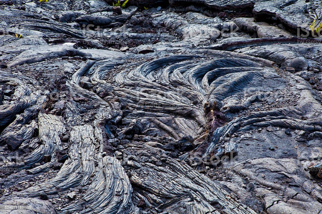 Rope lava twisted stock photo
