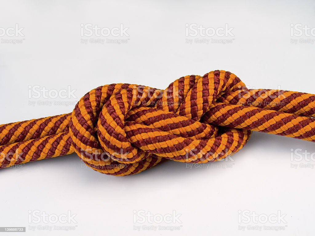 Rope Lock. Figure Eight royalty-free stock photo