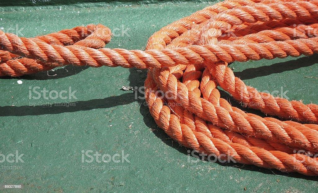 Rope of a ship. Schiffstau. stock photo