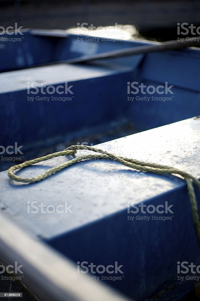 Rope on a Boat royalty-free stock photo