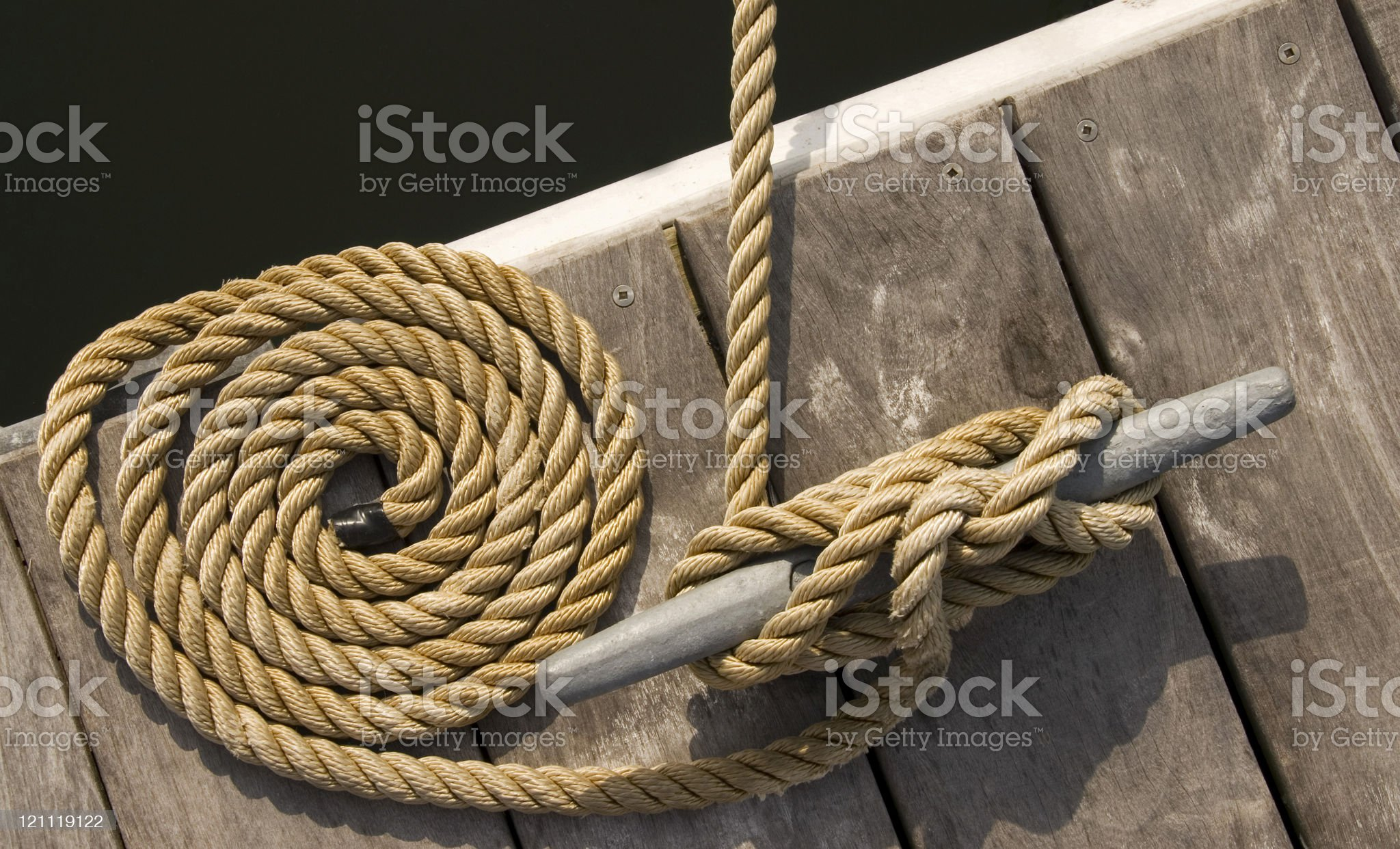 Rope on a Dock royalty-free stock photo