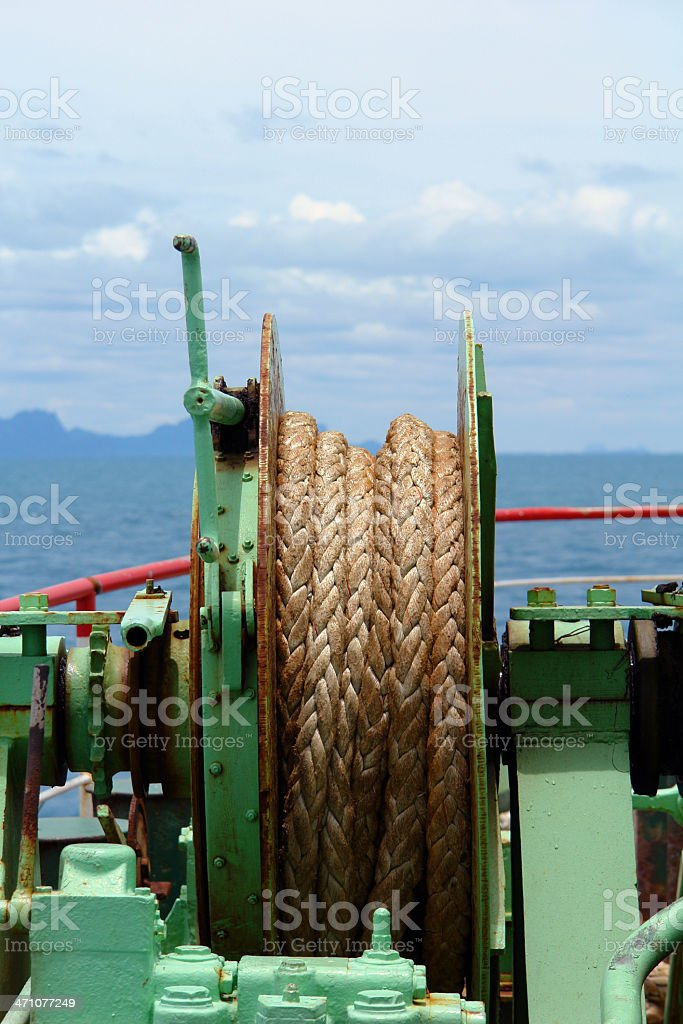Rope on a ship royalty-free stock photo