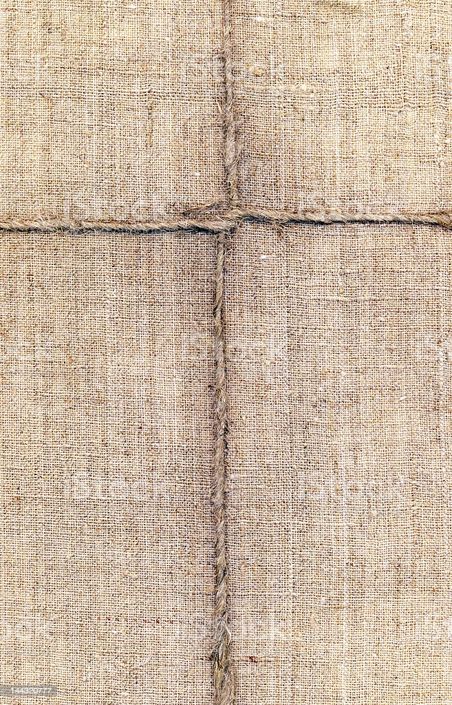 rope on the canvas, XXL royalty-free stock photo