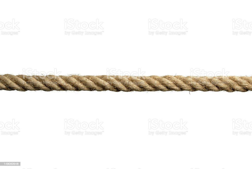 rope on white background royalty-free stock photo
