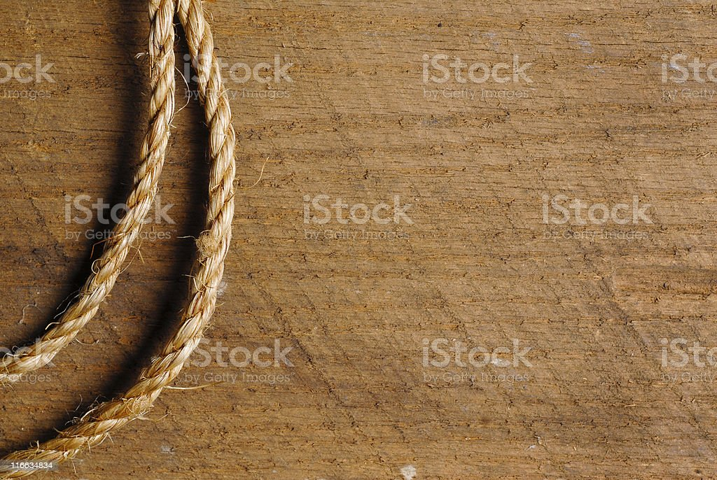 Rope on Wood royalty-free stock photo