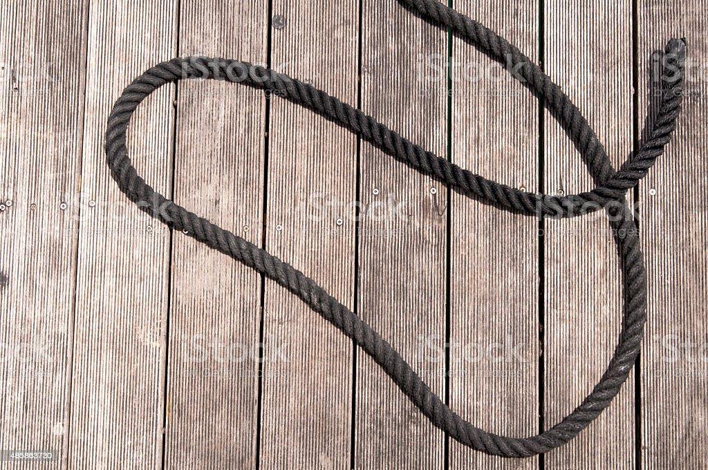 Rope on Wood stock photo
