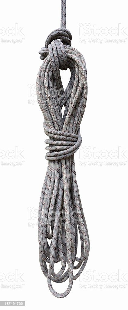 Rope rolled into a hank stock photo