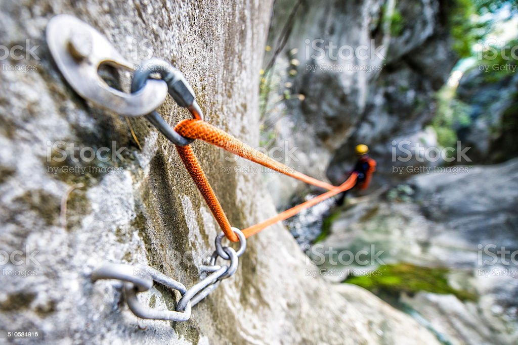Rope security system stock photo