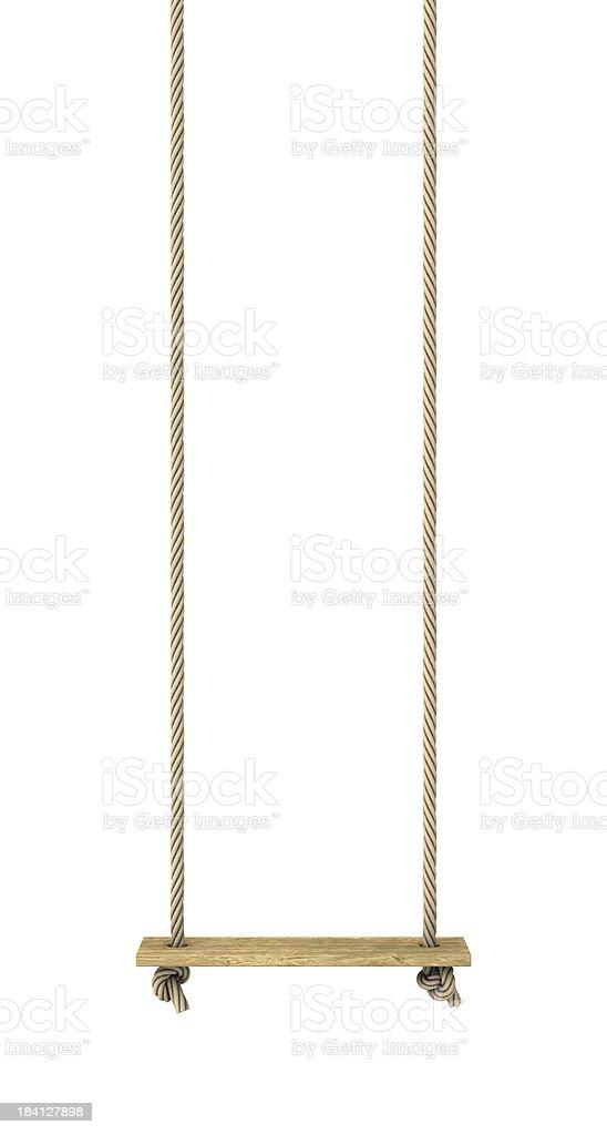 Rope swing stock photo