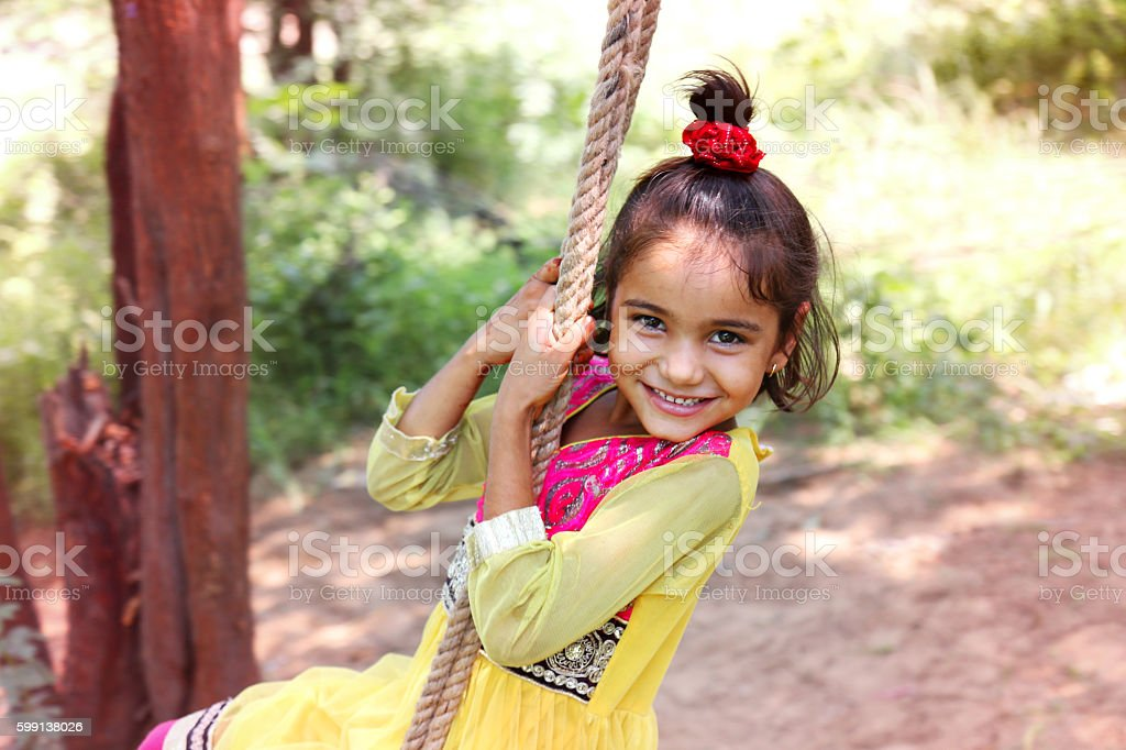 Rope Swing ! stock photo