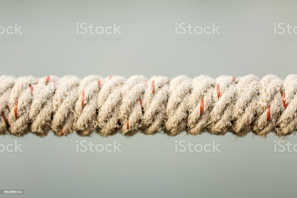 rope tied knot in nature background stock photo