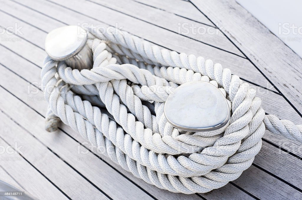 Rope tied stock photo