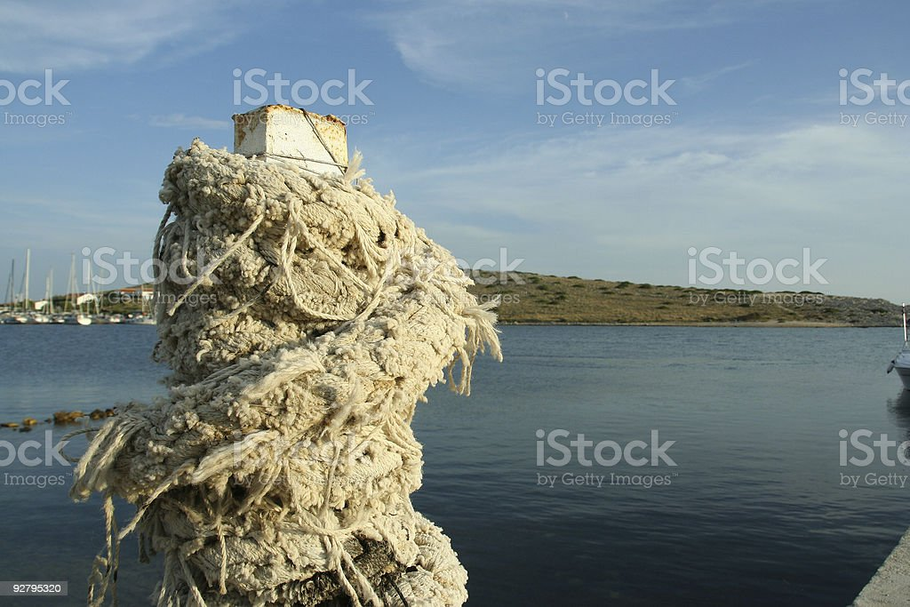 Rope tower in marina 05 royalty-free stock photo
